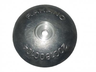 ZINC ANODE FOR RUDDER 125mm
