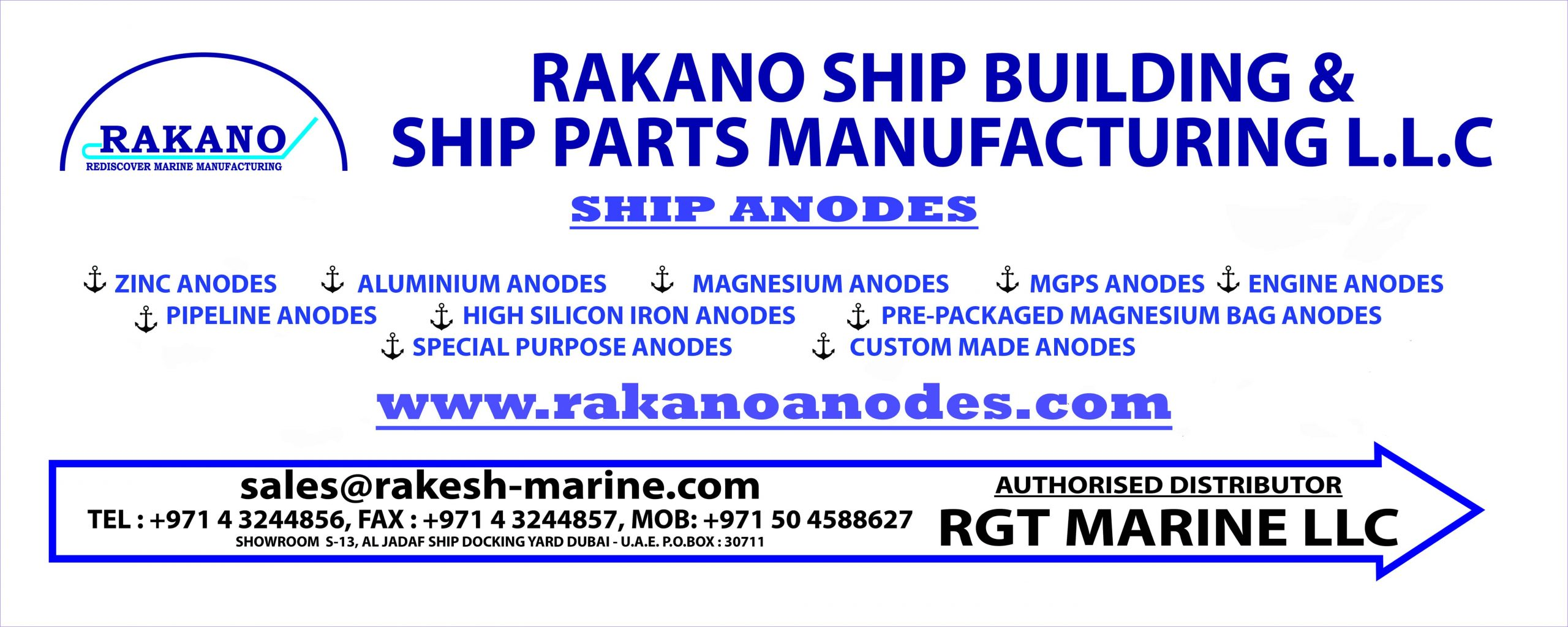 RAKANO SHIP BUILDING & SHIP PARTS MANUFACTURING LLC
